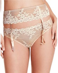 Wacoal | Natural Embrace Lace Garter Belt | Lyst