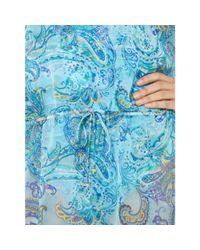 Ralph Lauren Blue Paisley Poolside Tunic
