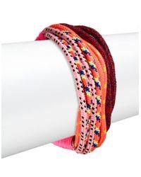 Trina Turk | Pink Rope Flex Bracelet | Lyst