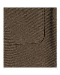 Saint Laurent - Brown Wool and Cotton-Blend Jacket - Lyst
