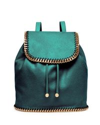 Stella McCartney - Green Falabella Drawstring Backpack - Lyst