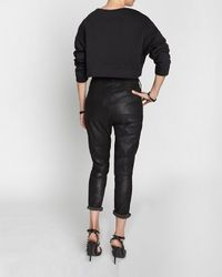 Rag & Bone Black Suede Dash Trouser