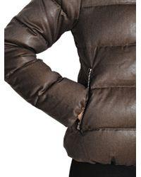 Duvetica - Brown Thiadue Cinzato Wool Blend Down Jacket - Lyst