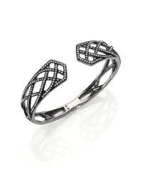 Adriana Orsini - Metallic Elevate Pavé Crystal Bangle Bracelet/gunmetal-tone - Lyst