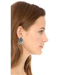 DANNIJO - Blue Lauder Earrings - Silver/crystal/italian Yves - Lyst