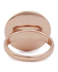 DKNY Metallic Pavé Crystal Rose Gold Tone Ring