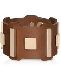 Tod's | Brown Bracelet In Leather And Metal | Lyst