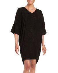 N Natori Black Terry-knit Sleep Tunic