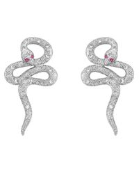 V Jewellery | Metallic Mythos Serpent Earrings | Lyst