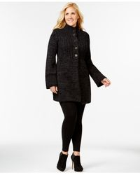 Style & Co. | Gray Plus Size Button-front Flyaway Cardigan | Lyst