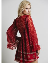 Free People Red Womens Nomad Child Dress