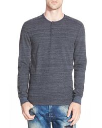 Alternative Apparel | Blue 'frontier' Thermal Henley for Men | Lyst