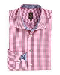 Robert Talbott - Pink Trim Fit Check Dress Shirt for Men - Lyst