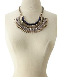 Forever 21 - Metallic Bib Statement Necklace - Lyst