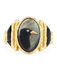 Alexis Bittar | Black Elements Carved Raven Cameo Bracelet | Lyst