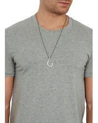 Miansai Metallic Hook Pendant Necklace for men