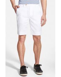 Fairway & Greene | White Flat Front Seersucker Shorts for Men | Lyst