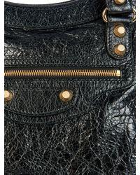 Balenciaga Black Giant 12 City Leather Tote