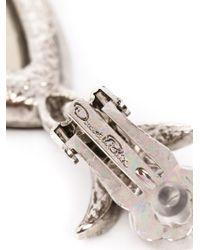 Oscar de la Renta - Green Triple Octagon Clip-on Earrings - Lyst
