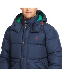 Polo Ralph Lauren - Blue Quilted Down Coat for Men - Lyst