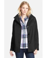 Ellen Tracy | Black Cotton Blend Stand Collar A-line Jacket | Lyst