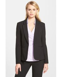 Halogen | Black One-button Stretch Suit Jacket | Lyst