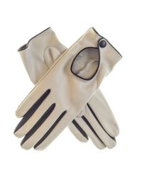 Black.co.uk White Ivory And Black Leather Driving Gloves Description Delivery & Returns Reviews
