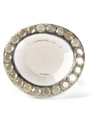 Rosa Maria - Metallic 'Fidji' Diamond Quartz Ring - Lyst