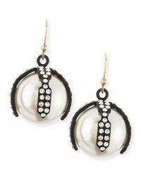 Lulu Frost White Decade Simulated Pearl Earrings