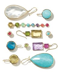 Ippolita   Green 18k Gold Rock Candy Rectangle-cut Peridot & Lemon Citrine Earrings   Lyst
