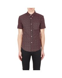 Band of Outsiders Multicolor Men's Eye-pattern Short-sleeve Shirt for men