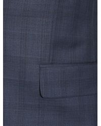 Paul Smith Blue Soho Prince Of Wales-checked Wool Suit for men