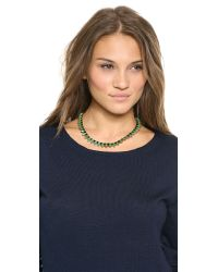 House of Harlow 1960 | Green Wren Feather Collar Necklace Malachiteblack | Lyst