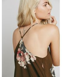 Free People - Green Intimately Womens Printed Cascades Slip - Lyst