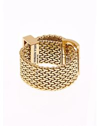 Aurelie Bidermann Metallic Diamond & Yellow-Gold Belt Ring