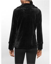 Calvin Klein   Black White Label Performance Faux Mink Jacket   Lyst