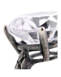 Bottega Veneta Metallic Intrecciato Ring