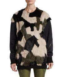 3.1 Phillip Lim - Multicolor Patchwork Fur Sweatshirt - Lyst