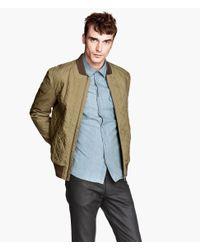 H&M Green Bomber Jacket for men