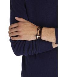 Miansai | Brown Double Wrap Leather Anchor Bracelet for Men | Lyst