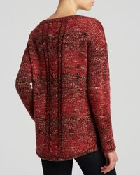 Sanctuary Red Back Cable Knit Sweater