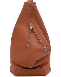 Loewe | Brown Anton Small Leather Backpack - For Men for Men | Lyst