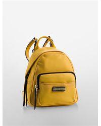 Calvin Klein - Yellow Jeans Skylar Nylon Studio Backpack - Lyst
