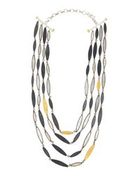 Gurhan | Metallic Mixed Metal Multi-strand Necklace | Lyst