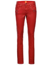 BOSS Orange | Red Slim-fit Jeans: 'orange J20 London' With A Special Coating | Lyst