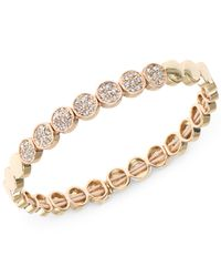 Nine West | Metallic Gold-tone Pavé Crystal Stretch Bracelet | Lyst