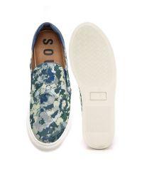 Soulland Multicolor Dog Slip On Sneakers for men