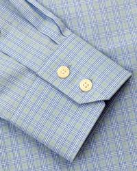 Jaeger Green Micro Check Classic Shirt for men