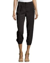Eileen Fisher - Black Lightweight Cropped Tapered Pants - Lyst