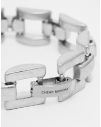 Cheap Monday | Metallic Max Bracelet for Men | Lyst